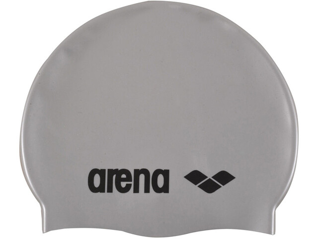 arena Classic Silicone Badehætte, silver-black